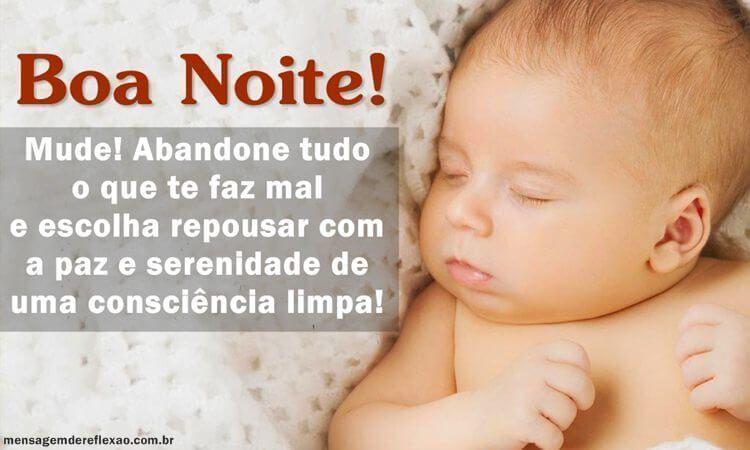 Boa Noite para quem dorme com a consciência limpa
