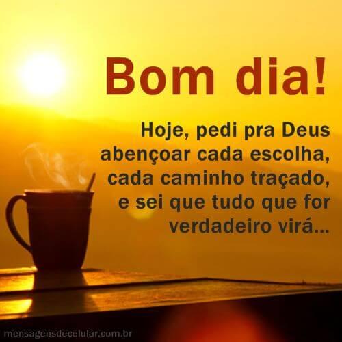 Bom Dia Encaminhado por Deus!