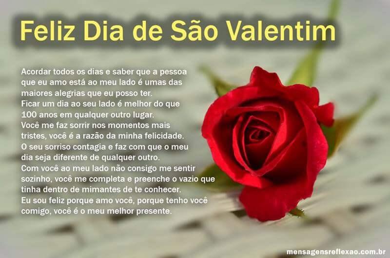 Mensagem para Dia de São Valentim
