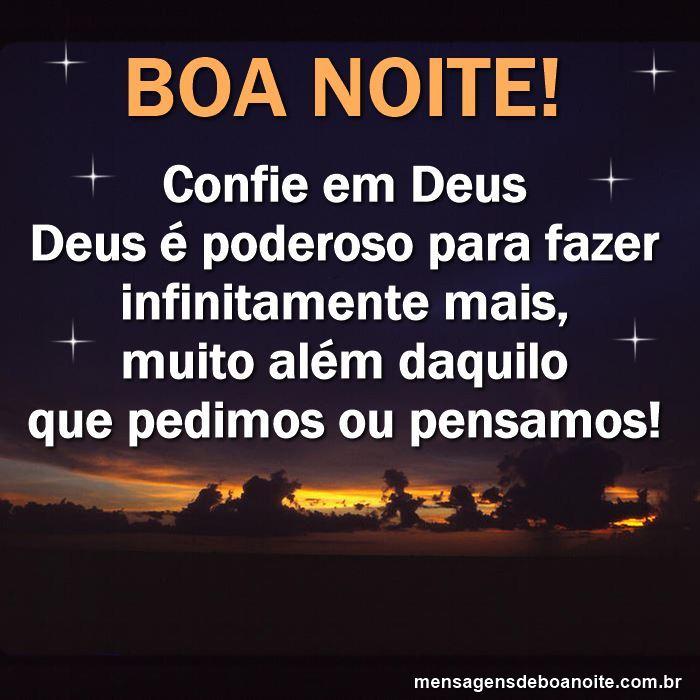 Boa Noite Confia Em Deus Mensagens De Reflexão