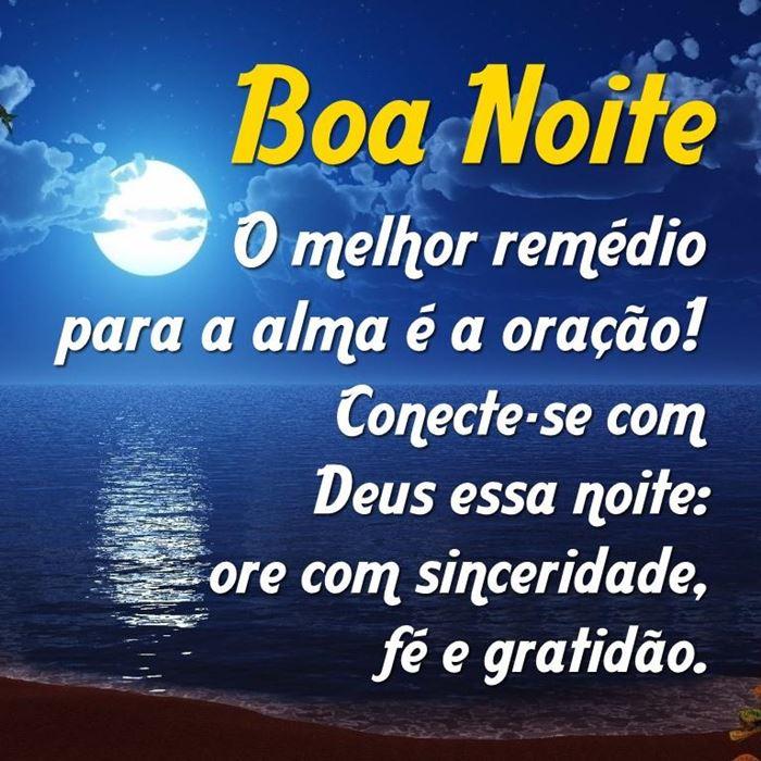 mensagem de boa noite sobre Deus para orar antes de dormir
