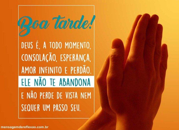 mensagem de boa noite Evangélica duas mãos