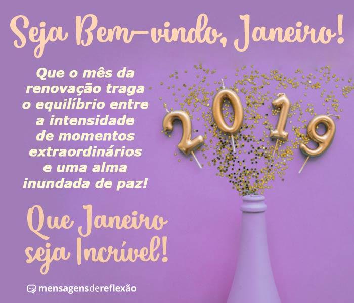 Seja Bem-Vindo Janeiro!