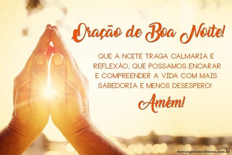 Oração de Boa Noite