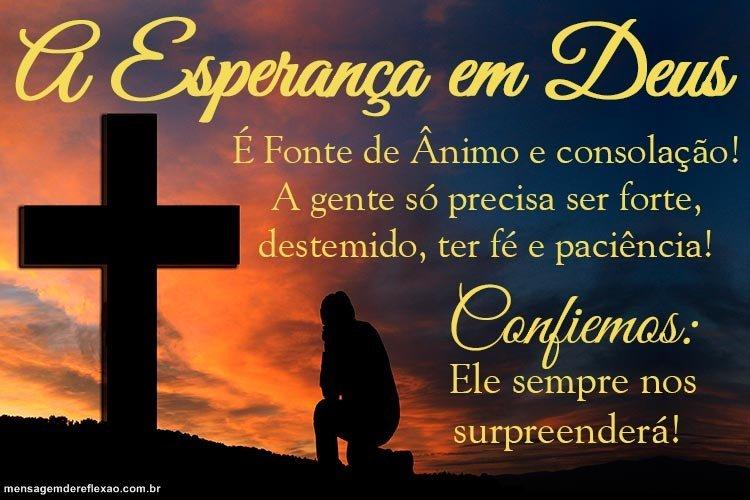 Mensagem De Esperança Em Deus
