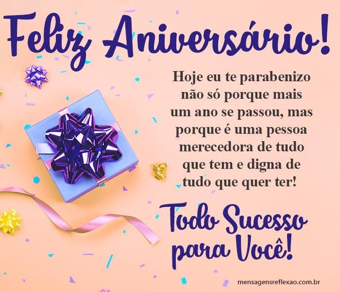 Feliz Aniversário Todo Sucesso para Você