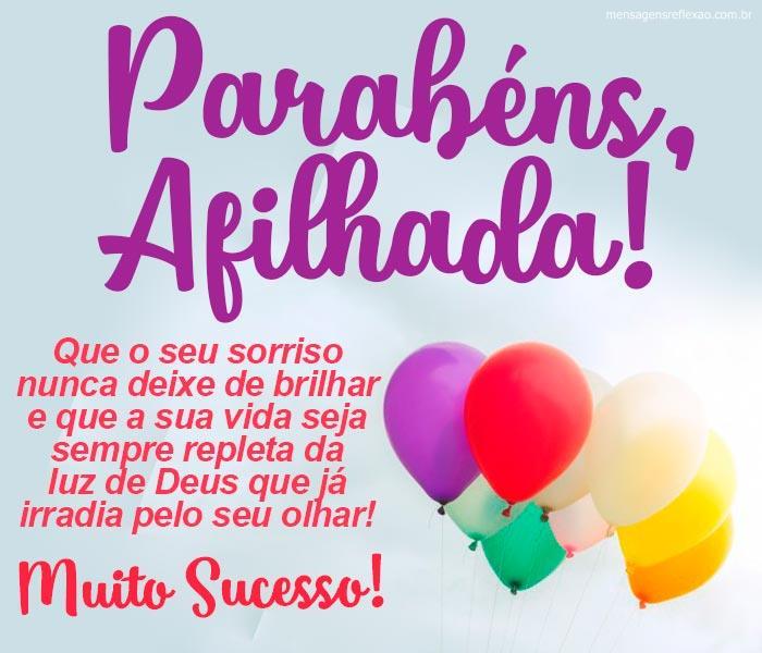 Parabéns Afilhada