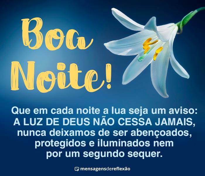 Boa Noite, A Luz de Deus nos Protege