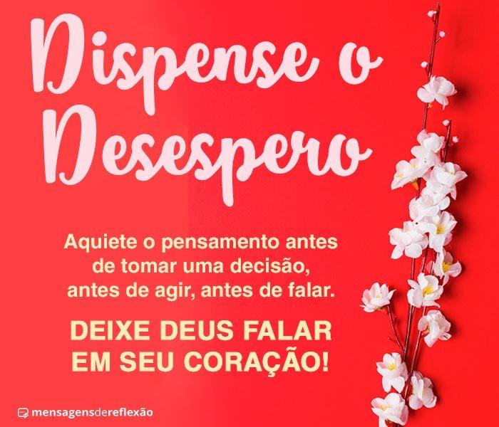 Dispense o Desespero, Ouça Deus!