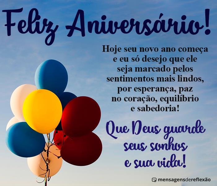 Feliz Aniversário com as Bênçãos de Deus