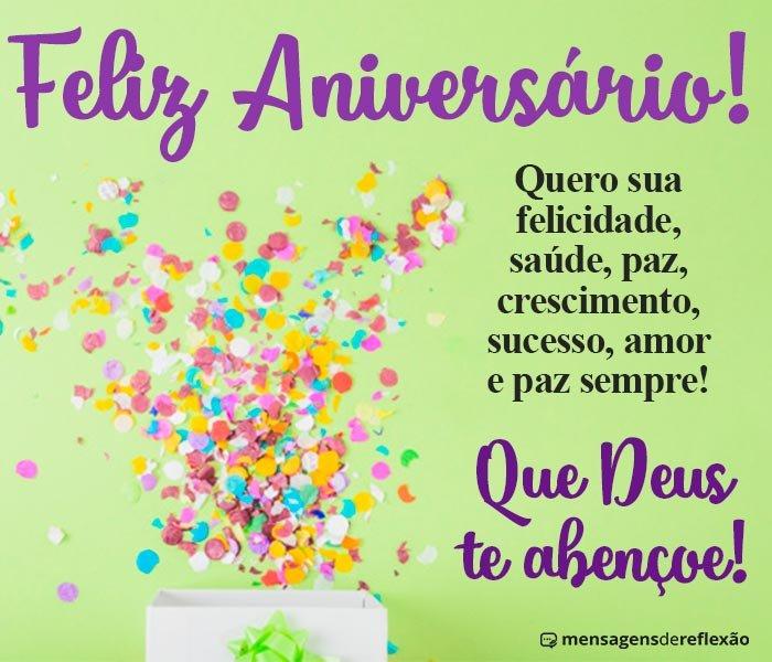 Feliz Aniversário, Deus te Abençoe