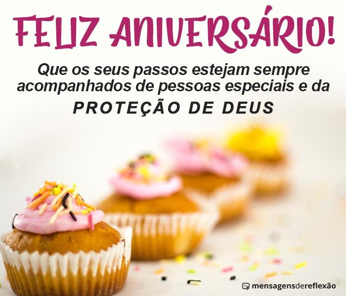 Feliz Aniversário com Proteção de Deus