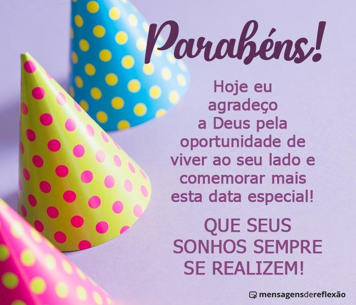 Parabéns com Sonhos e Planos Abençoados