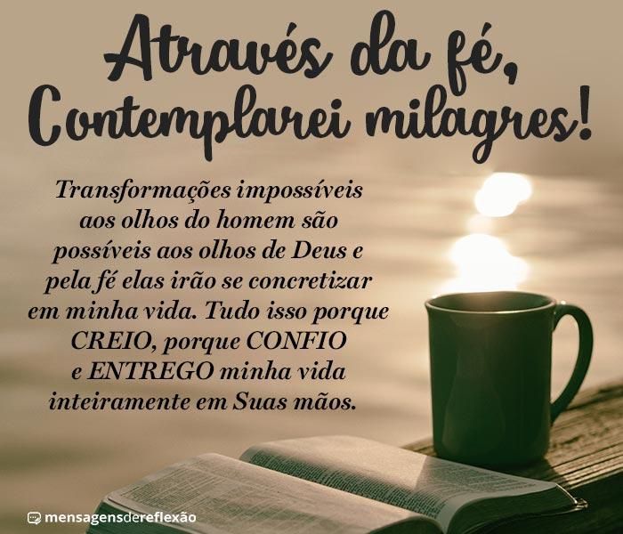 Fé pra Contemplar Milagres