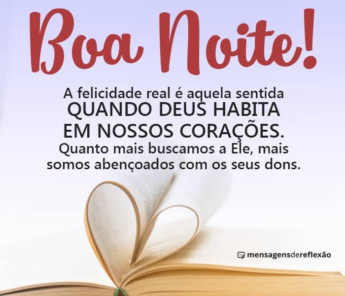 Boa Noite, A Felicidade vem de Deus