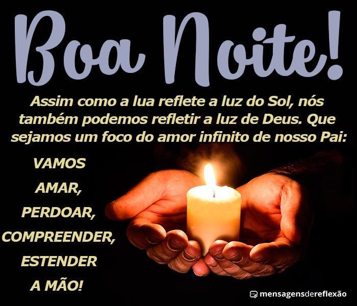Boa Noite, Você Pode Refletir a Luz de Deus
